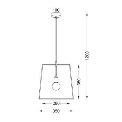 Závěsné svítidlo Shape - Square - 5