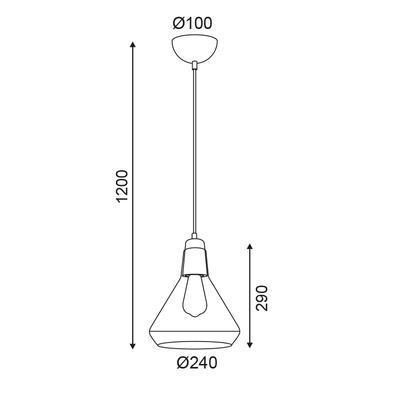 Závěsné svítidlo Beaker - 5