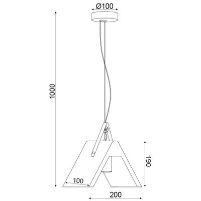 Závěsné svítidlo Tent - 1 - 6