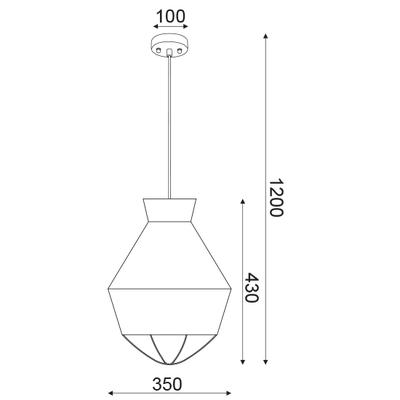 Závěsné svítidlo Teepee - S - 6