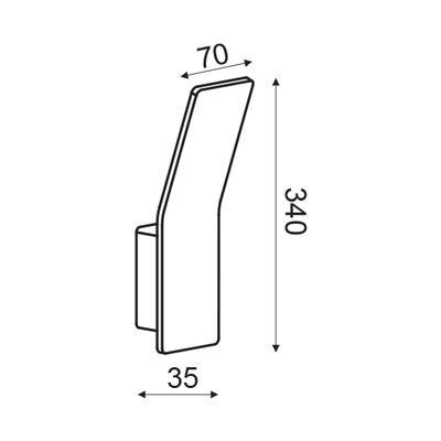 Nástěnné LED svítidlo Scoop - S - 6