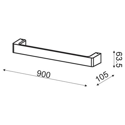 Nástěnné LED svítidlo Handle - L - 6