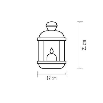 Dekorativní LED lucerna s časovačem - 2 - 6