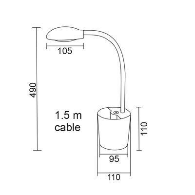 Stolní LED lampa Pencils - 7