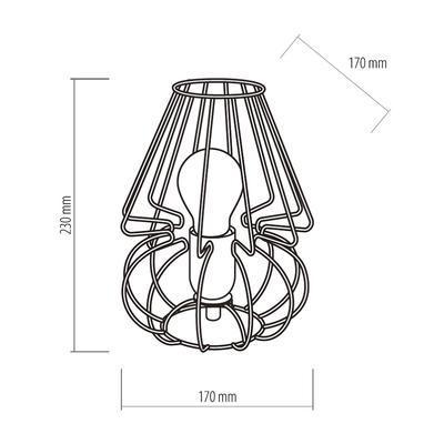 Stolní lampa PICOLO, šedá, šedá - 7