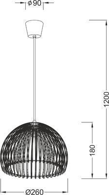 Závěsné svítidlo Comb - 7