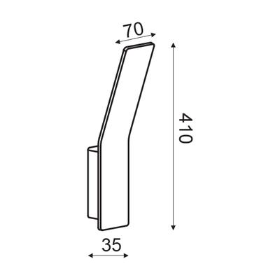 Nástěnné LED svítidlo Scoop - L - 7